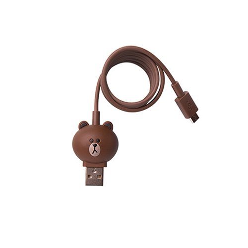 Cable micro USB de 5 pines para conectar smartphone  (Line Friends – Brown)