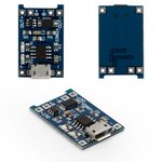 Controlador de carga de batería Li-ion MP1405 (03962A), salida 1 A, Puerto Micro-USB 5V