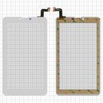 """Сенсорный экран для планшетов Elenberg TAB740; Irbis TZ47, TZ70; Nomi C07004 Sigma+, C07006 Cosmo+ ; Prestigio MultiPad Wize (PMT3407); Digma  Hit 4G, Plane 7.4 4G, 7"""", 184 мм, 104 мм, 31 pin, тип 1, с датчиком приближения, емкостный, белый, #MTCTP-70760/MTCTP-70152/DP070023-F1/ZHC-0525A/FPC-FC70S786-00 FHX/FPC-CY70S217-00"""