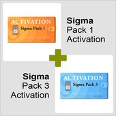 Активации Pack 1 и Pack 3 для Sigma