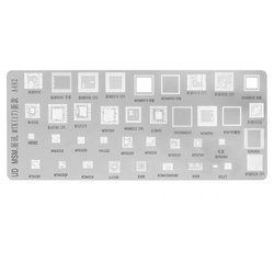 BGA-трафарет A482, MSM8996, MT6582, LC860C, MSM8928, MSM8956, MSM8974, MT6737V, MSM8939, MT6795, 39 in 1