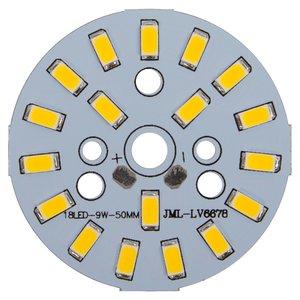 Плата со светодиодами 9 Вт (теплый белый, 1080 лм, 50 мм)