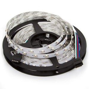 Светодиодная лента SMD3528 (RGB, 60 светодиодов, 12 В DC, 1 м, IP20)