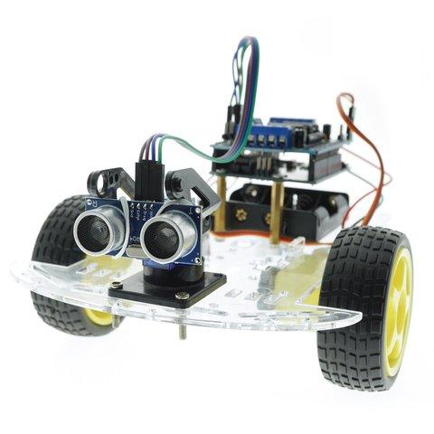 Конструктор Arduino Робомашинка з давачем (датчиком) для оминання перешкод + посібник користувача